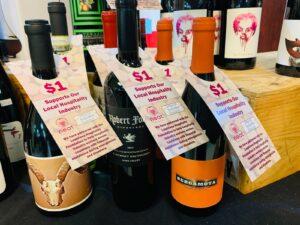 Neat Wines bottle neck hangers